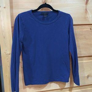 EUC J Crew small blue long sleeve tee shirt